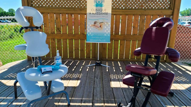 Le massage sur chaise offert par La clinique A Massanté